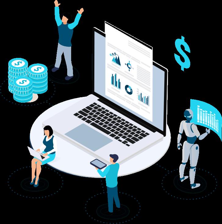 Imagem que representa a ROIT, uma accountech que utiliza inteligência artificial para entregar soluções integradas.